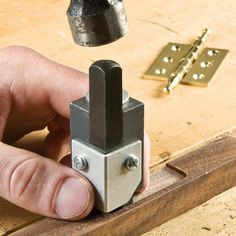 Squares rounded corners with a single hammer strike!