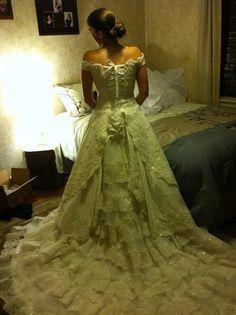 Rennaissance - Handmade Vintage Style Lace Bridal Gown. $2,800.00, via Etsy.