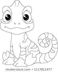 Chameleon Coloring Page Camaleao Riscos Para Pintura Camaleao