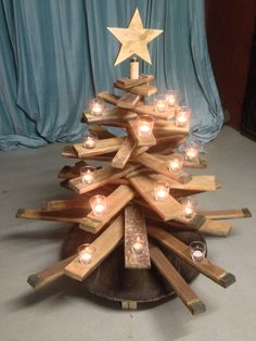Christmas tree from wine barrel stave, 120 cm (made by WeinARTig)