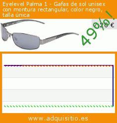 Eyelevel Palma 1 - Gafas de sol unisex con montura rectangular, color negro, talla única (Ropa). Baja 49%! Precio actual 7,20 €, el precio anterior fue de 13,99 €. http://www.adquisitio.es/eyelevel/palma-1-gafas-sol-unisex