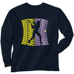 You don't have to sacrifice style or softball during those colder months with our Softball Long Sleeve Tees! What an awesome softball gift!