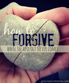 Forgiveness is hard. It's even harder when the person who hurt us never says they're sorry. But we can still forgive them. There are three choices in relationship conflict: in, out, or wait. Find out where you are and how you can move on to find peace.