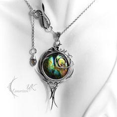 EXIRNGTUS - silver and labradorite by LUNARIEEN.deviantart.com on @deviantART