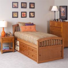 Pecan School House Captain Bed