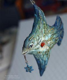 Купить Птица - синий, птица, женщина, птица счастья, елочная игрушка, nadine pau