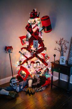 Harley Quinn Christmas Tree Theme - Pop Culture Christmas Trees 2015