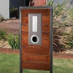 Milkcan Merbau Timber Hardwood Letterbox Brown Modern Mailbox Ready to Install
