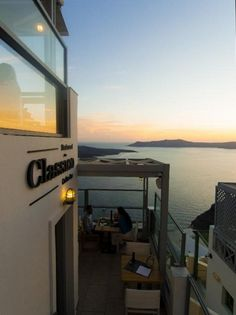 santorini | fira | cafe classico Greek Islands, Holiday Destinations, Santorini, Outdoor Decor, Summer, Travel, Home Decor, Greece, Greek Isles