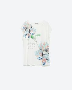 Image 6 of BLUE FLORAL T-SHIRT from Zara