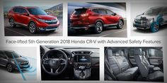 The 2018 #Honda CR-V is the fifth generation of this compact SUV. It is now available in the UAE with its advanced safety features and dynamic performance. Read our review for more information.  #UAE
