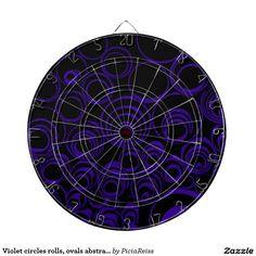 Violet circles rolls, ovals abstraction pattern UV