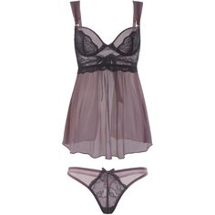 Full Size Black Lace Babydoll and Panty Set (165 BRL) ❤ liked on Polyvore featuring intimates, lingerie, lace lingerie, lace babydoll lingerie, baby doll lingerie, babydoll lingerie and lacy lingerie