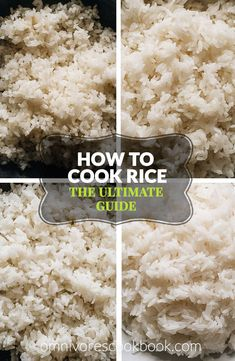 The Ultimate Guide on how to cook short grain, medium grain, long grain, and jasmine rice on the stove top or in an Instant Pot.