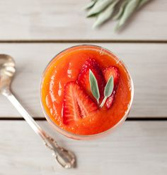 Papaya-Lime Soup with Strawberries - Blendtec Blogger Recipes