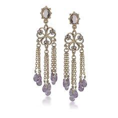 Carolee Rose Colored Glow Chandelier Pierced Earrings