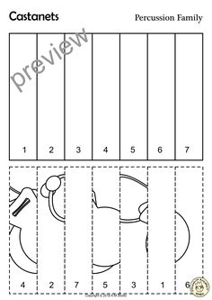 This File In PDF Form Contains 16 Percussion Musical Instruments Trace And Coloring Pages Each Page An Instrument Picture To Color
