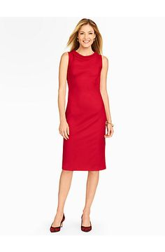 Talbots - Italian Flannel Portrait Collar Sheath Dress | |