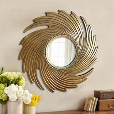 Vogue Bohemia Mirror - Golden,Mirrors