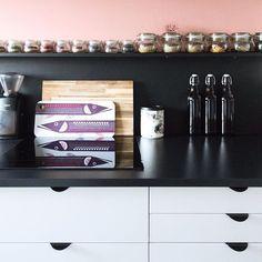 Favourite Place at 🏡 #maisonchezkristel #home #interior #kitchen #instahome #homedecor #homestyle #homestyling #kitchen #kitchenstuff #instadecor #living #interiordesign #home #interiorandhome #interiordecor #decor #myhome #homie #kitchendecor #black #white #monochrome #wallcolor #pink
