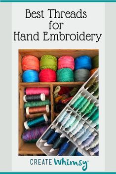 Best Threads for Hand Embroidery | Create Whimsy Hand Embroidery Projects, Hand Embroidery Stitches, Embroidery Techniques, Cross Stitch Embroidery, Hand Stitching, Ink Cartridge Reset, Cleaners Homemade, Diy Cleaners, Visible Mending