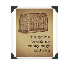 I'm Gonna Break my Rusty Cage and Run