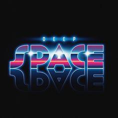 vaporwave font Synthwave typography on Behance Typography Fonts, Graphic Design Typography, Lettering, New Retro Wave, Retro Waves, Cyberpunk, 80s Logo, Photoshop Fonts, Wedding Logo Design