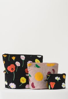 Flora Go Pouch Set by Baggu - PRE-ORDER, SHIPS IN JULY