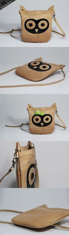 Cute Owl handmade leather shoulder bags crossbody bag for girl women Handmade Handbags & Accessories - amzn.to/2ij5DXx Clothing, Shoes & Jewelry - Women - handmade handbags & accessories - http://amzn.to/2kdX3h7