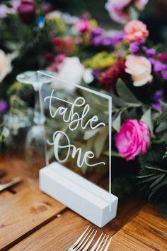 Numéro de table - plexi