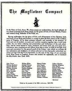 In 1620, the Pilgrims landed at Plymouth Massachusetts. They sought religious freedom instead of commercial profit. They has signed the Mayflower compact before coming ashore. They made an agreement in which they set out guidelines for governing their North American colony. The Indians taught the Pilgrims how to grow corn and helped them survive in the new land.