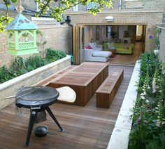 Extension to a flat in Wimbledon where the garden design was integral to the extension