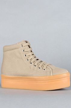 The Homg Sneaker in Nude by Jeffrey Campbell