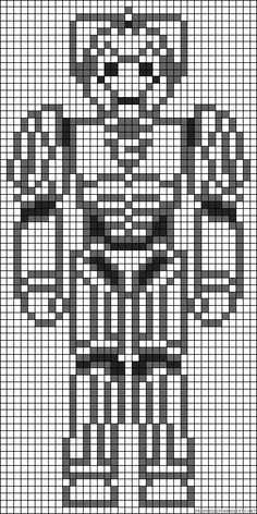 Cyber man pattern... someone NEEDS to show me how to do these graph-ghans!!
