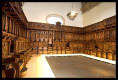 Coro de San Martín Pinario, Santiago de Compostela (Spain).