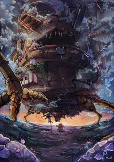 Movie version of Howl's Moving Castle is wonderful...
