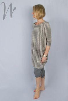 Mamab Ila Long Stripe Dress mb0029 (Grey Other)