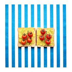 Pop art sandwiches! Tomato and guacamole fits perfectly! @smidrai