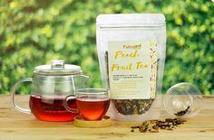 Peach Fruit Tea 100g Blueberry Fruit, Peach Fruit, Fruit Tea, Apple Roses, Wine, Bottle, Food, Products, Meal