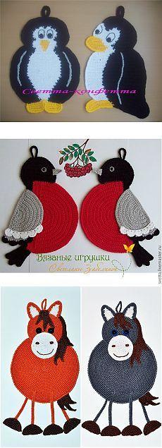 Без заголовка Crochet Wool, Easter Crochet, Crochet Art, Crochet Patterns Amigurumi, Crochet Animals, Crochet Motif, Crochet Flowers, Crochet Potholders, Crochet Kitchen