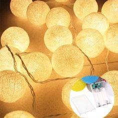 3.3 M 20LED Bolas de Algodão Luzes Da Corda Do Feriado Festival Festa de Casamento Cortina Decoração De Fadas Luzes de Iluminação Interior Decoração do Quarto em Cordas de iluminação de Luzes & Iluminaçao no AliExpress.com | Alibaba Group
