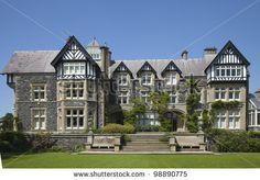 Old Mansion Victorian mansion in Bodnant Garden, North Wales