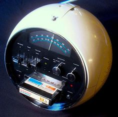 1972 Weltron 8-track casette player with radio.  Good old 8-track tapes!