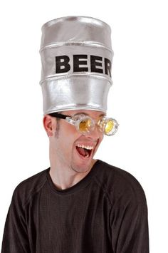 Kegger Costume Accessory beer goggles funny clever halloween costume pun.