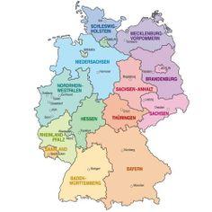 Die Bundesländer und ihre Hauptstädte