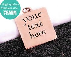 Personalized Charms, Charmed, Steel, Steel Grades, Iron