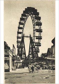 size: Photographic Print: The Wiener Riesenrad Poster : Framed Prints, Canvas Prints, Art Prints, Franz Josef I, Ferris Wheels, Amusement Park, A0 Poster, Wonderful Images, Art Reproductions