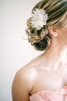 Side-do and flower on top :)