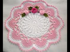 Flores y hojas para Centro de mesa en Crochet