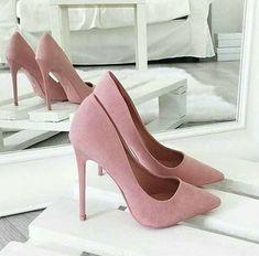 Blush pink high heels, shoes, stilettos - Schuhe - Best Shoes World Rosa High Heels, High Heels Boots, Pink High Heels, Lace Up Heels, Pumps Heels, Stiletto Heels, Blush Heels, Blush Pink Shoes, Pink Pumps